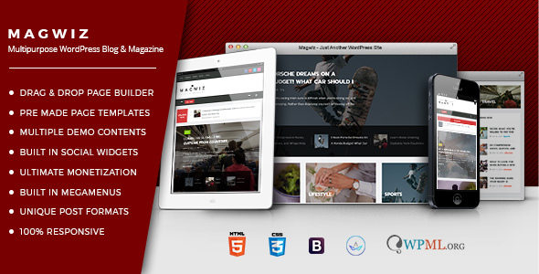 Download MagWiz - Multipurpose WordPress Magazine & Blogging theme nulled download
