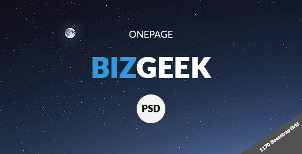 BizGeek - One Page Corporate PSD
