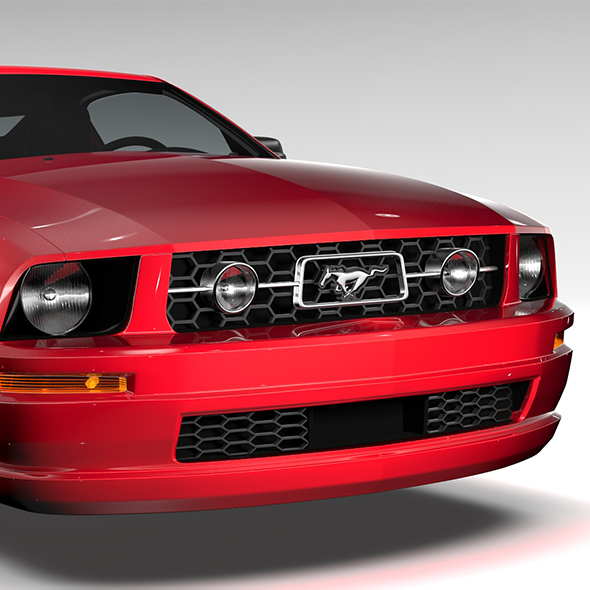 Ford Mustang v6 Pony 2006 Flying - 3DOcean Item for Sale