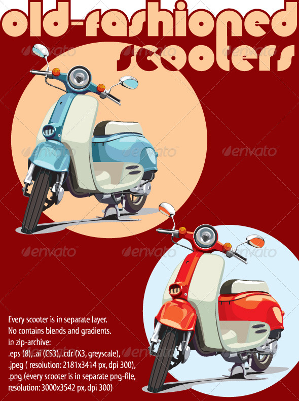 GraphicRiver Old-fashioned scooter 222760