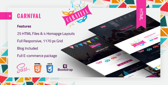 Download Carnival - Material Event HTML5 Template