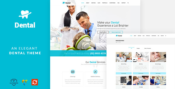 Download Dental - A clean orthodontist medical WP theme nulled download