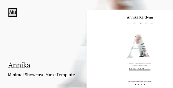 Annika - Minimal Showcase Adobe Muse Template