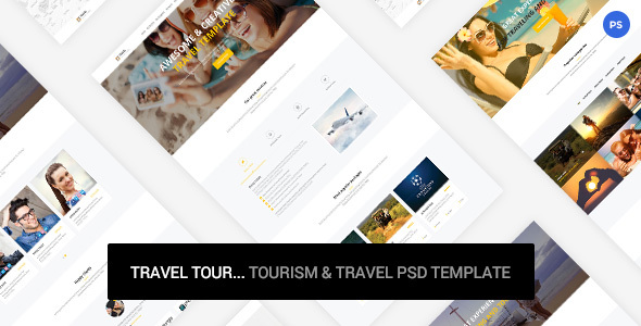 Travel Tour - tourism & travel PSD Template