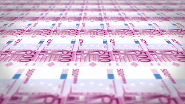 VideoHive Five Hundred Euros Banknotes 19277573