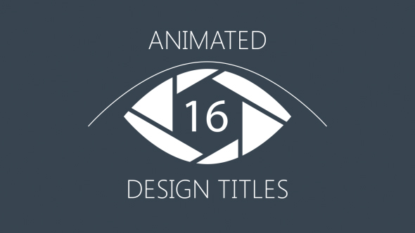 VideoHive 16 Animated Design Titles 19277700