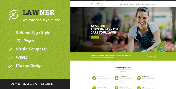 Download Lawner - Gardening and Landscaping WordPress theme nulled download