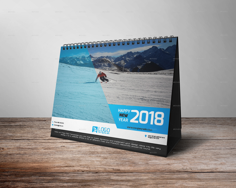Table Calendar 2018 : Desk calendar by zakirhossen graphicriver