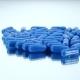 Medicine Blue Pills, on White, Rotation, Reflection