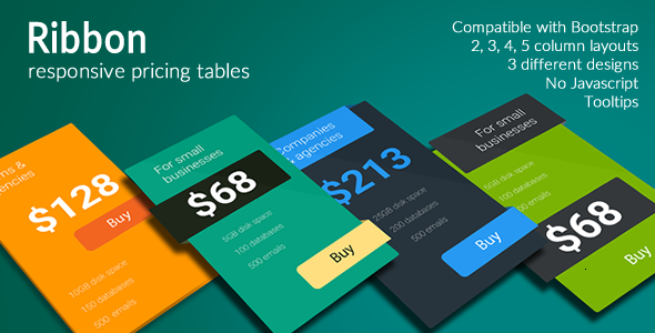 Ribbon – Responsive Pricing Tables (Pricing Tables) Download