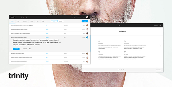 Trinity – Dashboard PSD and Sketch (Small business)