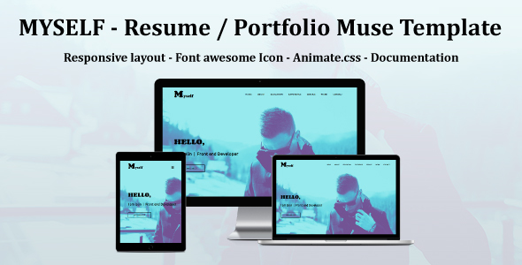 Themeforest MYSELF - Resume or portfolio Muse Template 19279365