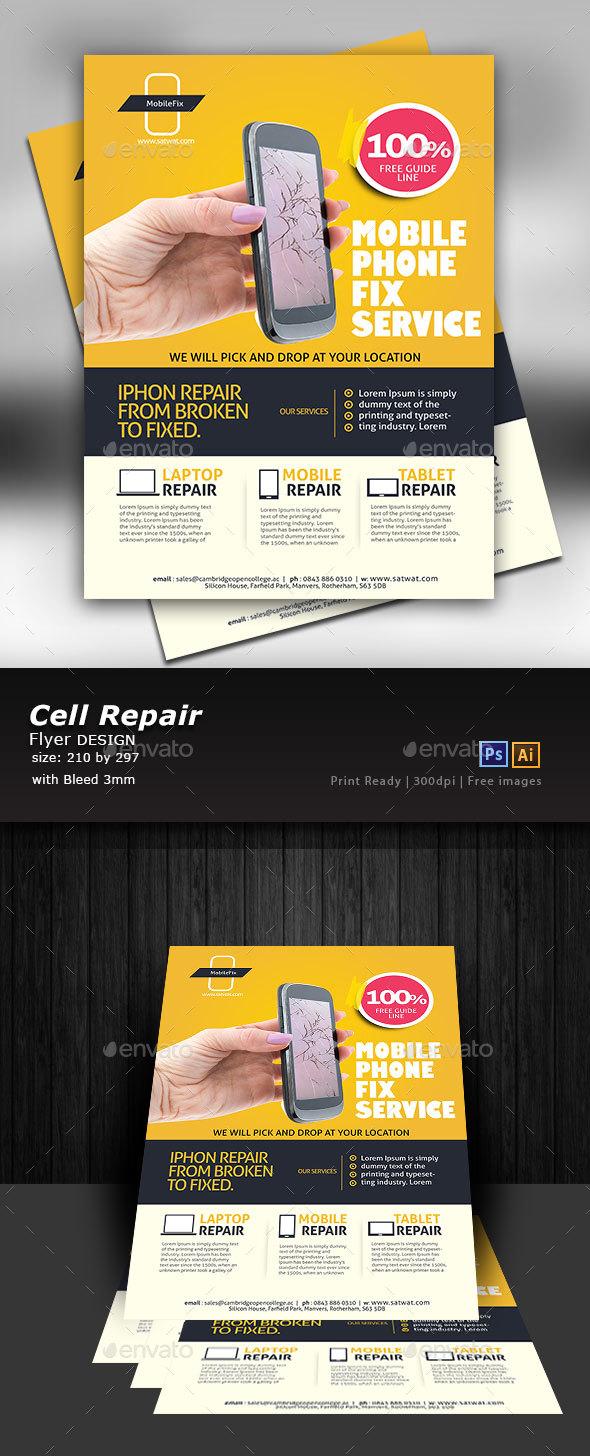 Graphicriver Cellular Repair Flyer Design 19279375