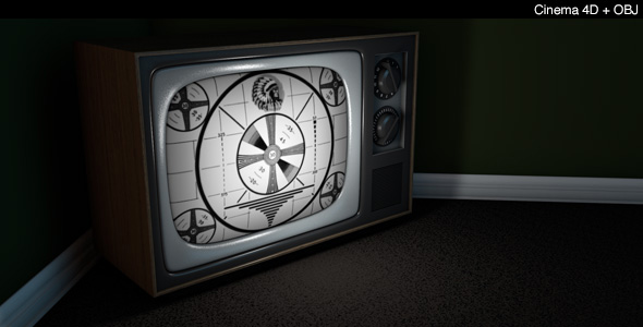 Vintage Television - 3DOcean Item for Sale