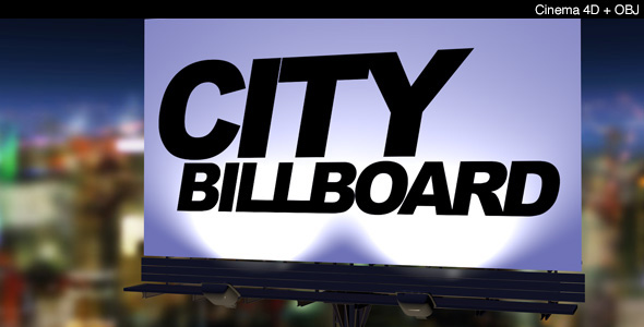 City Billboard - 3DOcean Item for Sale