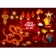 Chinese New Year and Spring Festival Greeting Card