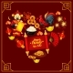Heart with Chinese New Year Traditional Symbols