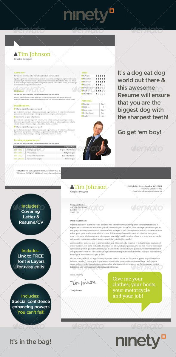 GraphicRiver Clean Resume CV 222797