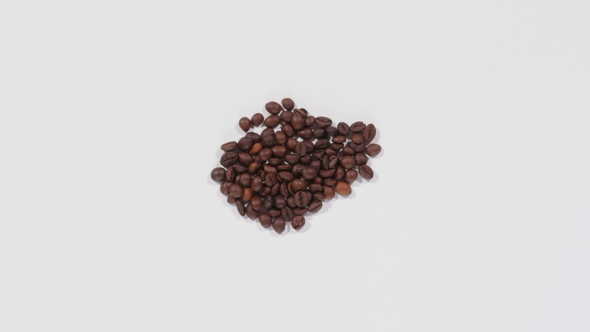 Coffee Beans Set in Form of Numbers