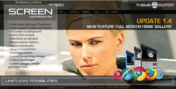 Screen, the next generation Wordpress theme! - Corporate WordPress