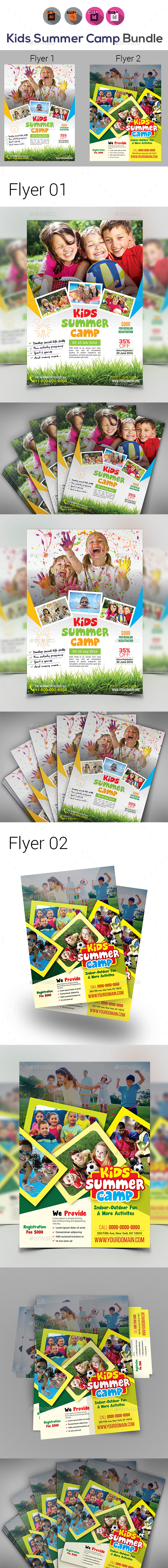 Graphicriver Kids Activities Flyer Bundle 19283333