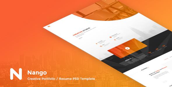 Nango - Creative Portfolio, Resume & Agency PSD Template