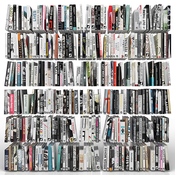 Books 300 pieces - 3DOcean Item for Sale