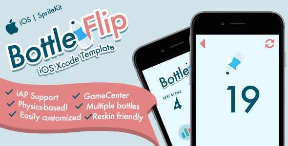 Download Bottleflip iOS Template nulled download