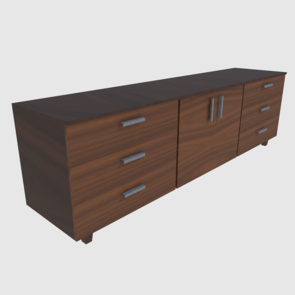 Cabinet 3 - Game Ready - 3DOcean Item for Sale