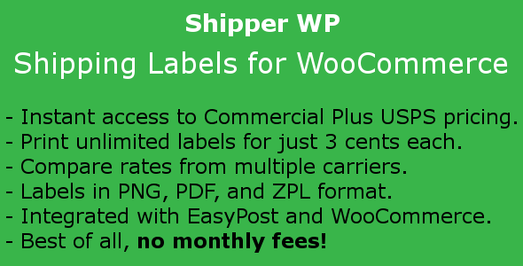 Download Shipper WP - Shipping Labels for WooCommerce nulled download