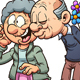 Download Vector Grandparents in Love