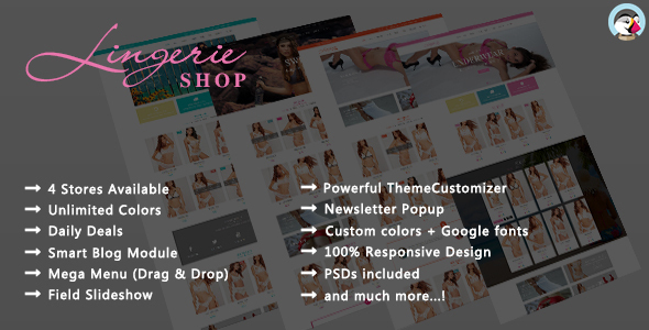 Download Lingerie Shop - Responsive Prestashop Theme nulled download
