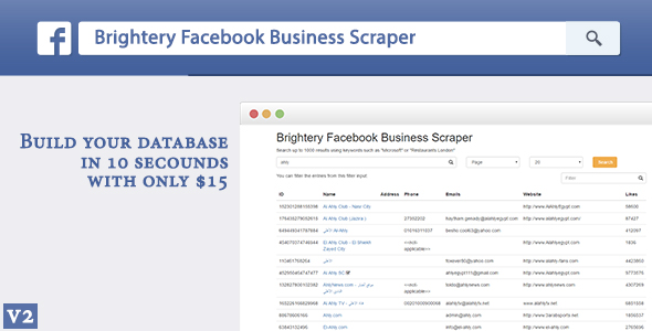 Download Brightery Facebook Business Scraper for WordPress nulled download