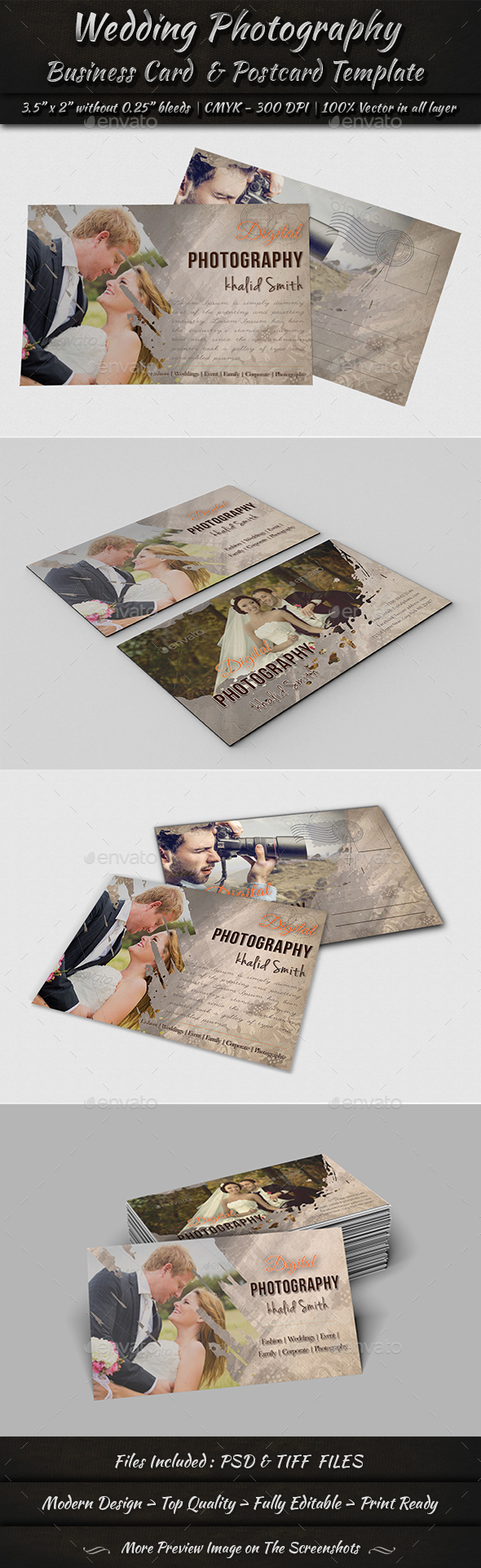 Graphicriver Business Card & Postcard Template 19285075