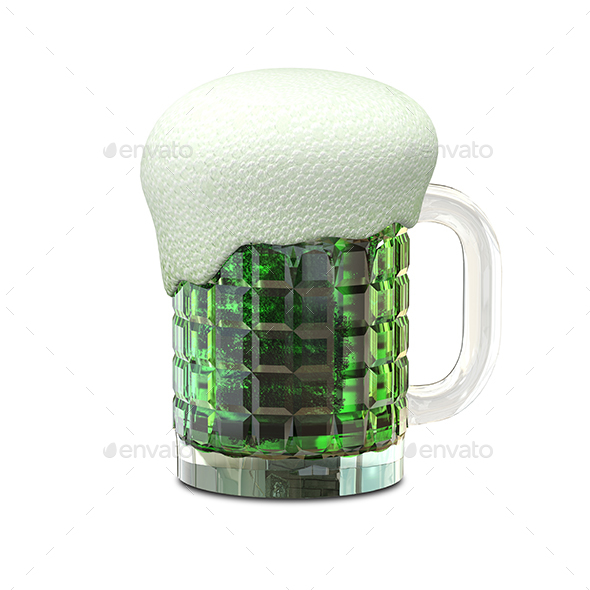 Graphicriver 3D Illustration of a Mug with Beer 19285180
