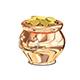 3D Illustration of Golden Pot
