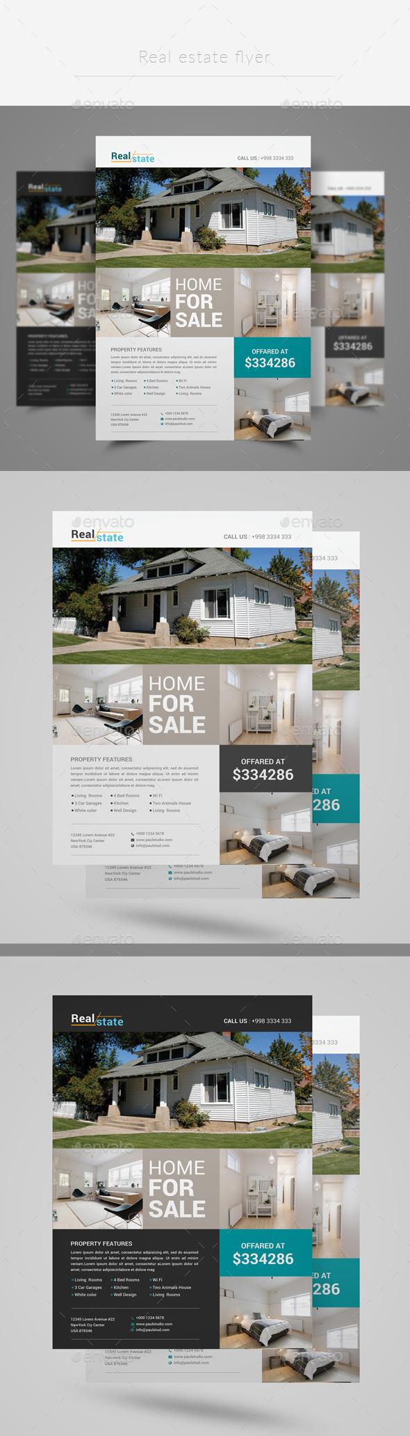 Graphicriver Real estate flyer 19285190