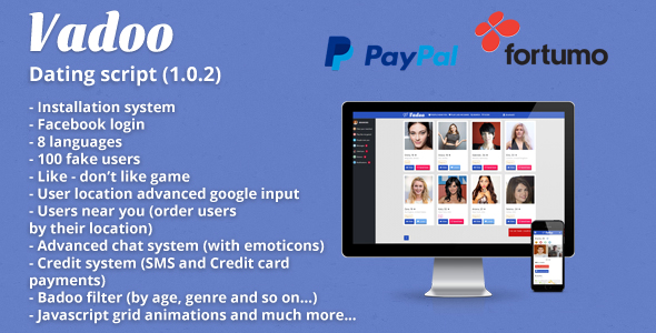 Download 100 Usa fake users for Vadoo dating script nulled download