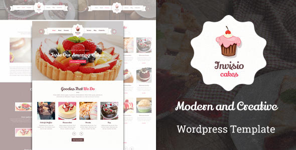 Download Invisio Cakes - Sweet Bakery WordPress Theme nulled download