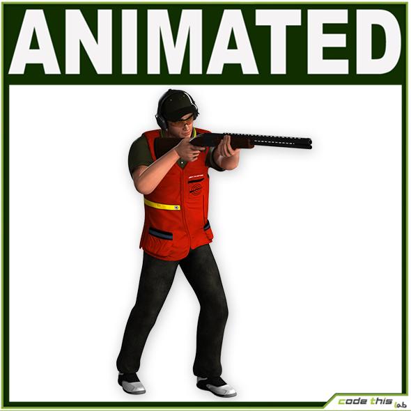 Male Skeet Shooter CG - 3DOcean Item for Sale