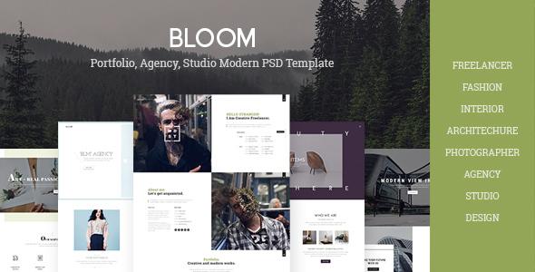 Bloom - Multi Purpose Design / Architecture / Interior / Portfolio PSD Template