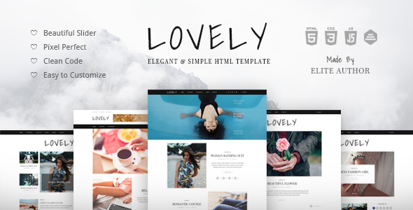 Lovely - Elegant & Simple Blog HTML Theme