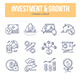 Investment & Growth Doodle Icons