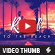 Road To The Beach - Music Video Thumbnail Artwork Template