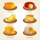 Download Vector Sliced French and Swiss Cheese Food Icons