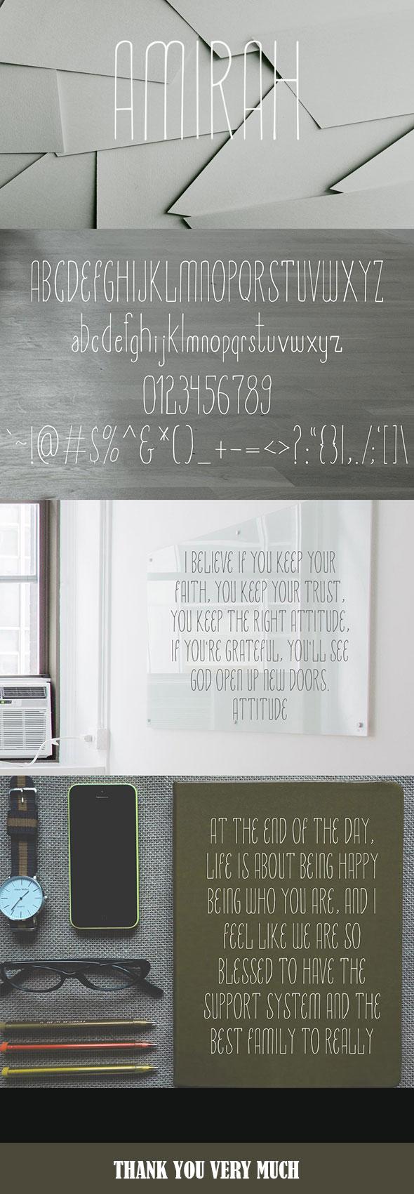 Graphicriver Amirah Display Typeface 19287245