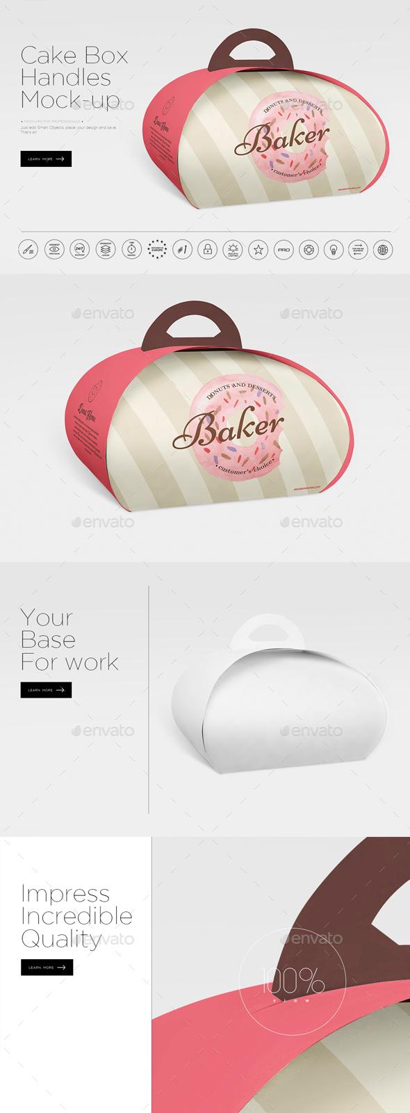 Graphicriver Handbag Cake Box Mock-up 19287420