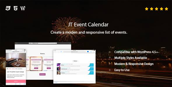 Download JT Event Calendar nulled download
