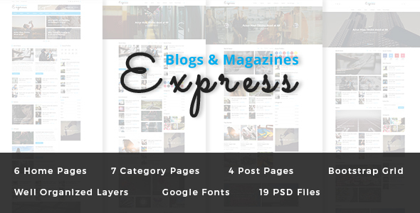 Express - Blog and Magazine PSD Template
