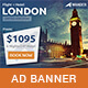 Wander - Travel Agency PSD Banner Template